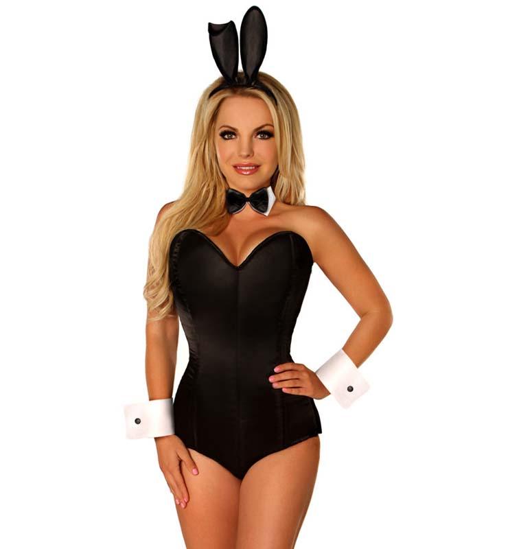 240cc35a0ba Sexy Tuxedo Bunny Corset Costume N11101