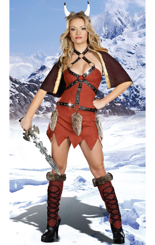 Sexy Viking Warrior Costume, Womens Viking Costume, Adult Medieval Viking Warrior, #N5892
