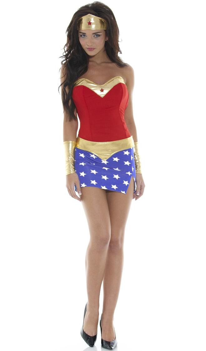 Super Heroine Costume, Sexy Wonder Woman Costume, Superhero Costume for Women, Sexy Super Hero Costume, Wonderful Babe Costume, #M986