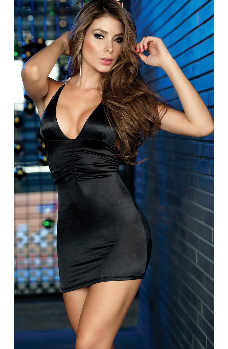 dress black sexy Hot women