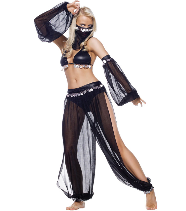Arabian Dancer Costume, Genie Rhoda Carpet Costume, Sexy belly dancer costume, #CP1055