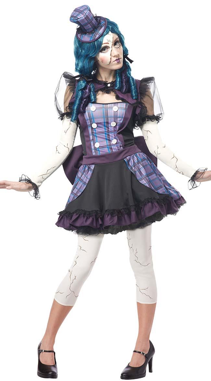 sexy halloween costume adult broken doll costume women