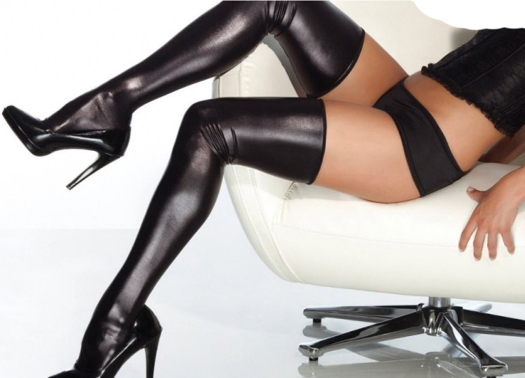 Vinyl Stockings with G-string HG1921