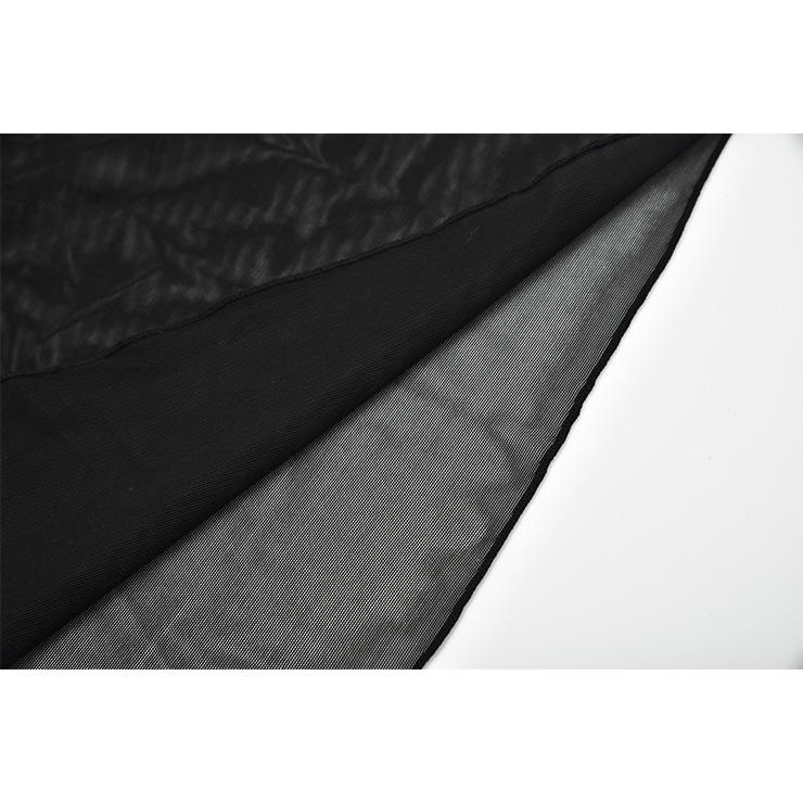 Sexy See-through Babydoll Lingerie, Sexy Black See-through Mesh Chemise Nightwear, Deep V Neck Sheer Mesh Babydoll Lingerie, Valentine