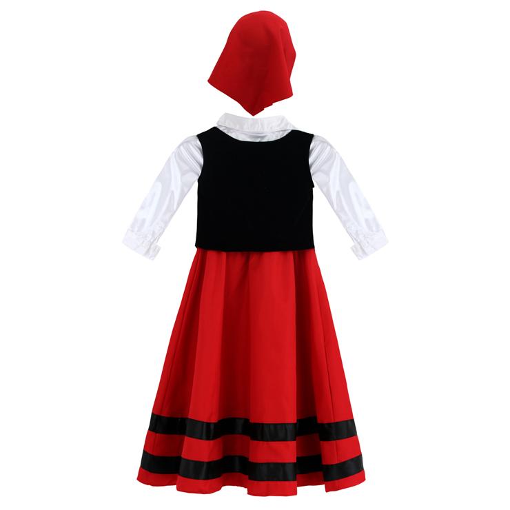 Shepherdess girl costume, Shepherdess costume, Shepherdess Child Costume, #N5970