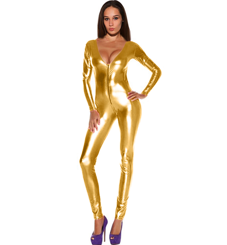 Shiny Golden Metallic Bodysuit N8383 a50adbcbf