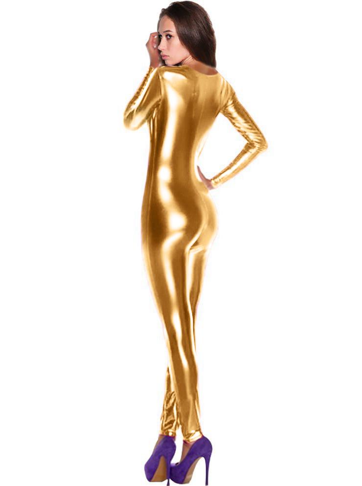 e69f2c5149cc Shiny Golden Metallic Bodysuit N8383