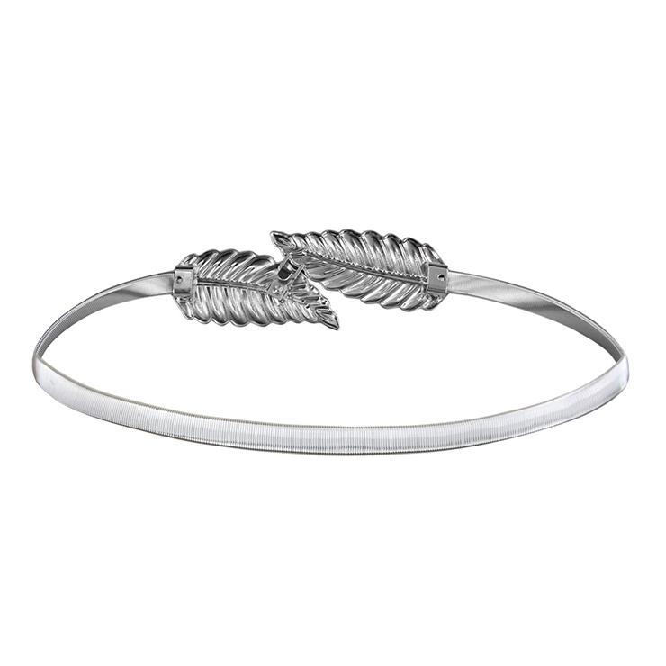 Luxury Waist Belt, Metal Waist Belt, Luxury Metal Waist Belt Silver, Waist Belt for Women, Fashion Dress Waist Belt, Silver Leaf Girdle for Women, #N16054