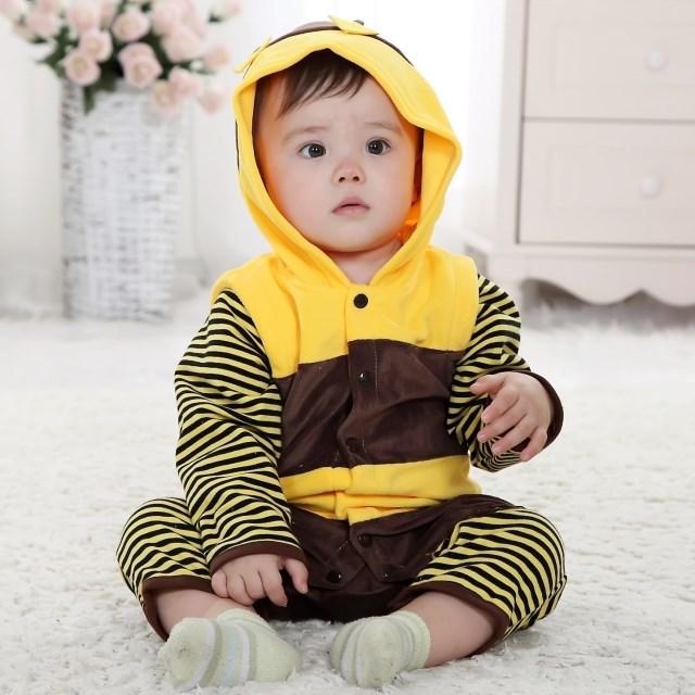 Bee Jumpsuit Romper Baby, Halloween Bee Costume Baby, Little Bee Climbing Clothes baby, #N6291