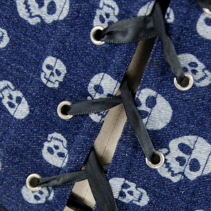 Skulls Denim Corset, Denim Corset, Skulls Corset, #N4058