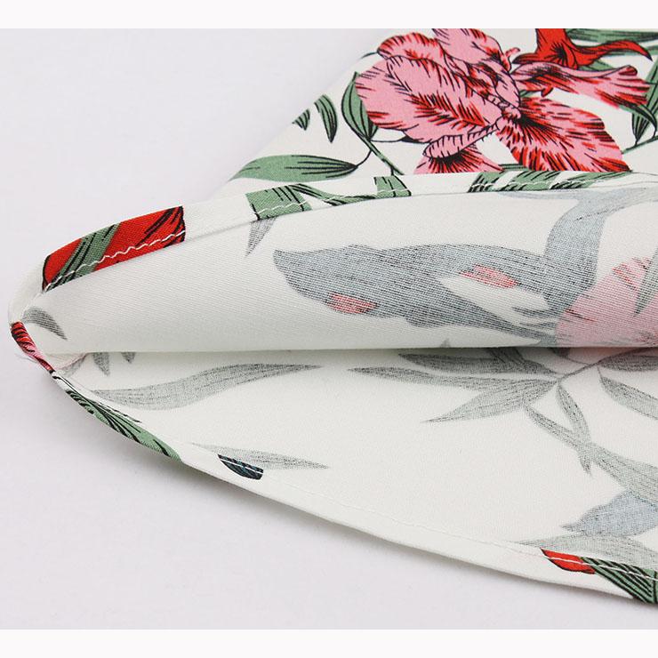 Vintage Sleeveless V Neck Midi Dress, Retro Flower Printed Swing Dress, Classical Sleeveless Printed Midi Dress, Women
