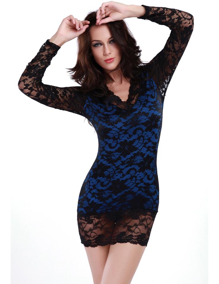 Sleeves Mini Dress N4596