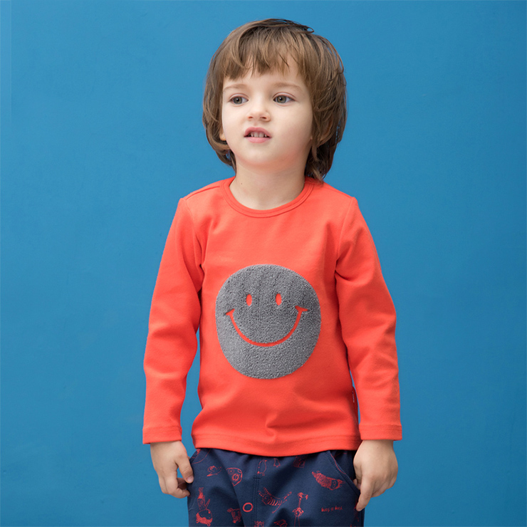 Smiling Face Cotton Long Sleeve T-Shirt N11969