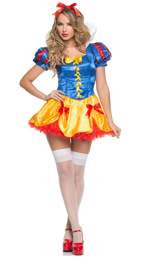 Snow Princess Costume, Sexy Halloween Costume, Cartoon Character Snow Princess Dress,Fancy Ball Costume, #N9839
