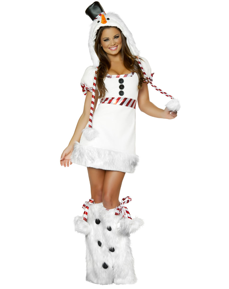 Sexy Snowman Costume, Snow Man Costume, Snowman Outfit, Christmas Costume, #N4639