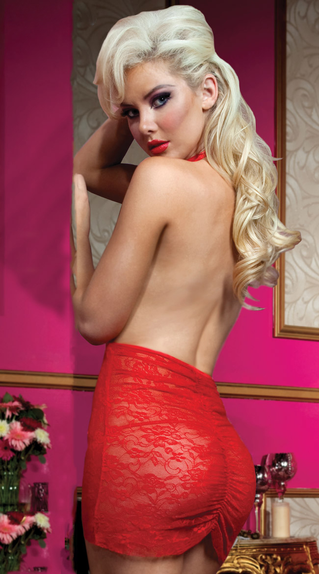 Some Like It Hot Chemise, Holiday Lingerie Chemise, Red Chemise, #N1367