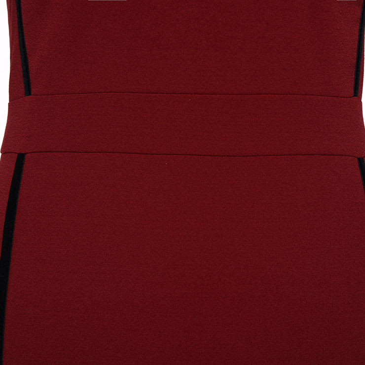 Sleeveless Bodycon Dress, V Neck Mini Dress, Sexy Dresses for Women, Wine-red Sheath Dress, Spaghetti Strap Sheath Dress, Bodycon Midi Dress, Back Zipper Bodycon Dress, #N15707