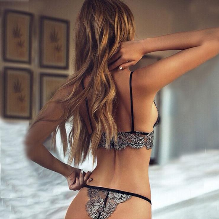Lace Bikini Lingerie Set, Sexy Silver Lingerie Set, Cheap Fashion Lingerie Set, Valentine