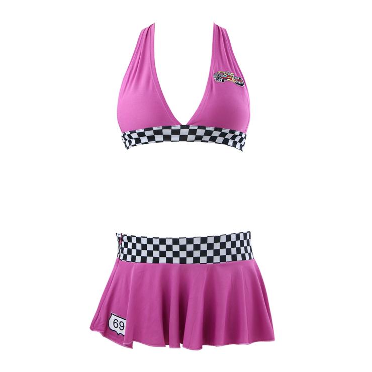 Sexy Sleeveless Halter Bra Top and Mini Skirt Speed Racer Cosplay ... 08de6a305