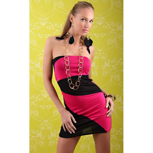 Splice Black & Pink Fashion Dress N5236