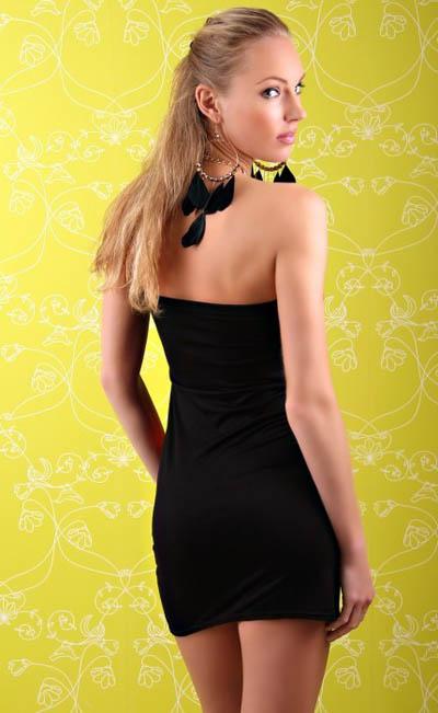Splice Black & Pink Fashion Dress, Splice Stretch Dress, Stretch Fashion Dress, #N5236
