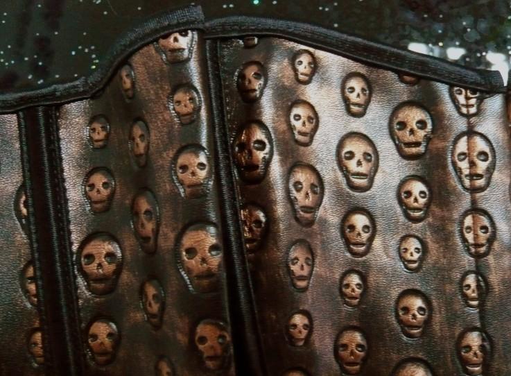 Vegan leather skulls Corset, leather skulls Corset, skulls Corset, #N1439