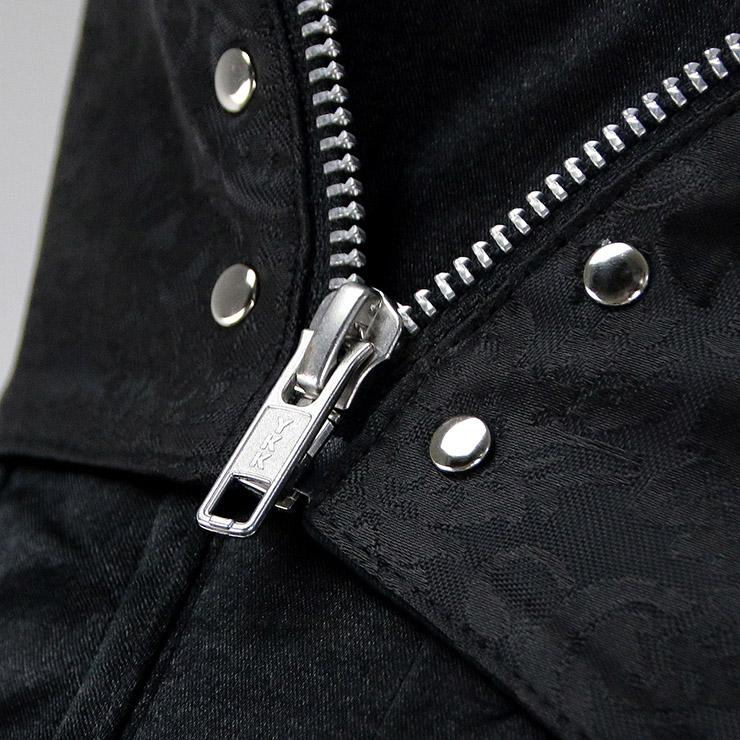 Punk Steel Boned Corset, Sexy Black Overbust Corset, Cheap Busk Closure Corset, Retro Brocade Corset with Zip, Plus Size Corset, Steampunk Corset, Steel Boned Waist Cincher, #N10873