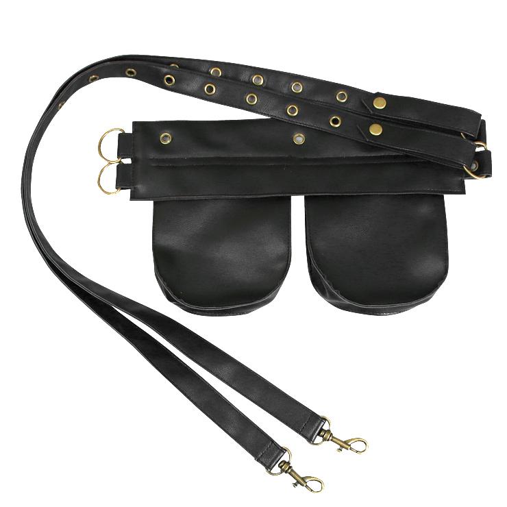 Hot Selling Corset Pouch Belt, Cheap Faux Leather Pouch, Punk Corset Pocket, Fashion Women