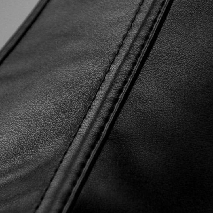 Steampunk Overbust Corset, Black Steel Bone Corset, Faux Leather Corset, Women