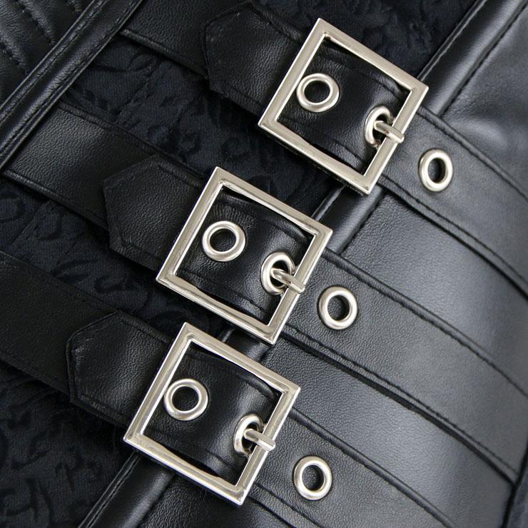 Heavy Steel Boned Corset, Cheap Outerwear Corset, Halloween Warrior Corset, Faux Leather Corset, Plus Size Corset, Punk Leather Corset, #N14705