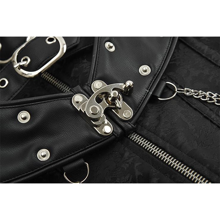 Heavy Steel Boned Corset, Cheap Outerwear Corset, Retro Overbust Corset, Sexy Gothic Jacquard  Strapless Corset, Sexy Strapless Overbust Corset, Victorian Gothic Waist Cincher, #N18770