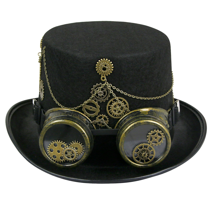 Fancy Masquerade Party Costume Hat, Steampunk Cosplay Costume Hat, Retro Fascinator Fancy Ball Top Hat, Vintage Industrial Style Vampire Costume Hat, Fashion Party Costume Hat Accessory, Fancy Victorian Gothic Fascinator, Gothic Style Costume Hat, #J19529