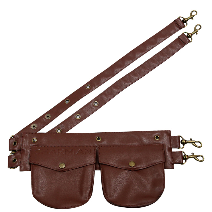 Steampunk Brown Faux Leather Corset Pouch Belt N10902