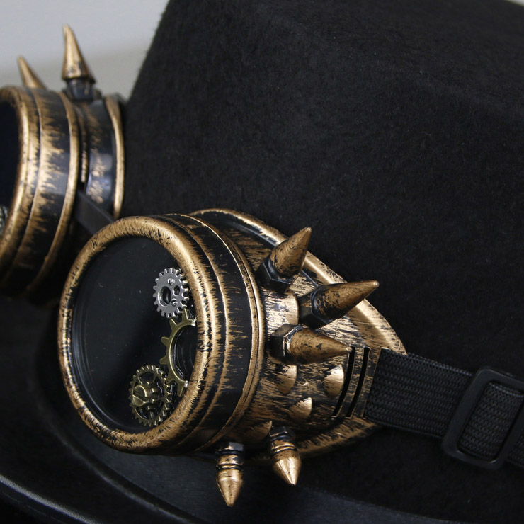 Fancy Masquerade Party Costume Hat, Steampunk Cosplay Costume Hat, Retro Fascinator Fancy Ball Top Hat, Vintage Industrial Style Vampire Costume Hat, Fashion Party Costume Hat Accessory, Fancy Victorian Gothic Fascinator, Gothic Style Costume Hat, #J19528