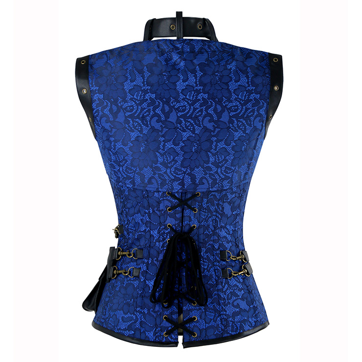 Steampunk Steel Boned Corset for Women, Vintage Corset Bustier Tops, Steel Boning Corset with belts, Steampunk Clothing for halloween, Red retro overbust corset, #N15045