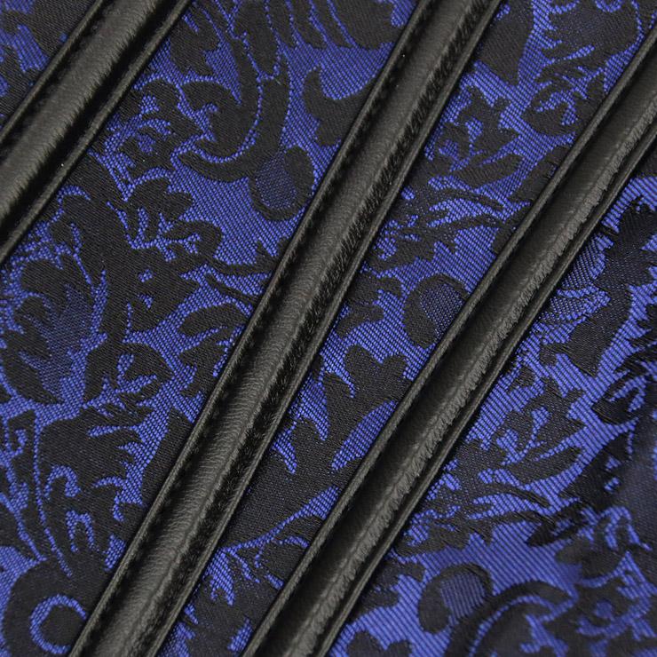 Jacquard Corset, Floral Brocade Corset, Retro Vintage Vest Corset, steampunk clothing steel boning for halloween costume, Steampunk Corset for women, #N11547