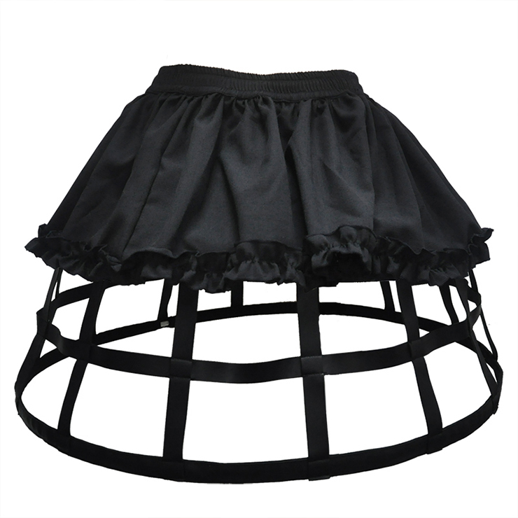 e2c333623 Steampunk Full Circle Steel Boned Long Crinolette Birdcage Petticoat HG12838