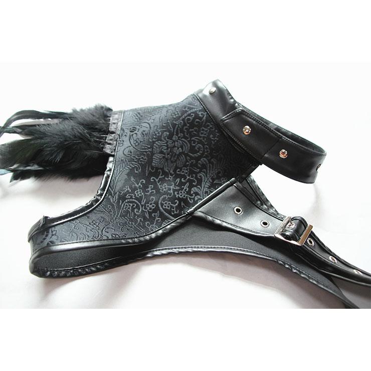 Medieval Gothic Bolero, Gothic Vampire Shrug, Hot Selling Corset Shrug, Gothic Corset Shrug, Heavy Corset Shrug, Cheap Halloween Party Corset Shrug, Punk Leather Corset Shrug, #N19598
