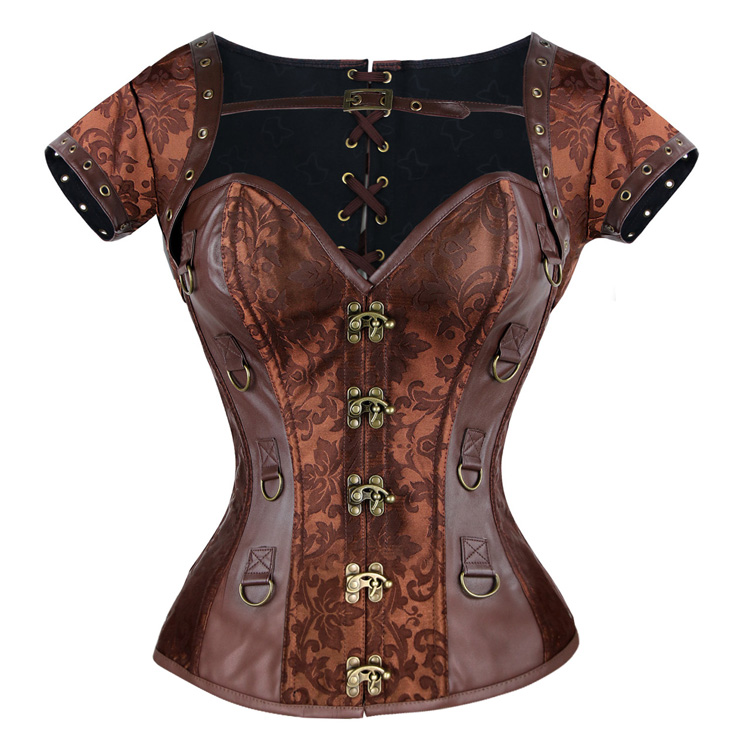 Steampunk Overbust Corset with Jacket & Belt With A Little Defect N7942