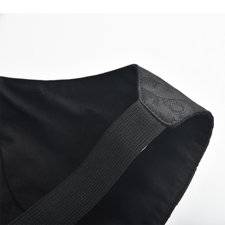 Medieval Steampunk Vest, Punk PU Leather Vest Harajuku Clothing, Punk Leather Backless Vest, Victorian Gothic Retro Vest Harajuku Clothing, Medieval Knight PU Vest, #N20156