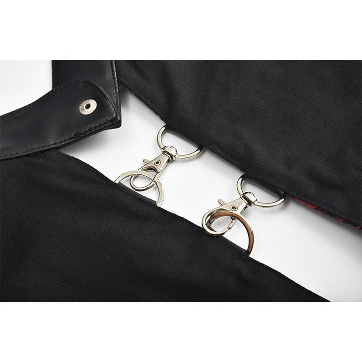 Medieval Steampunk Vest, Punk PU Leather Vest Harajuku Clothing, Punk Leather Backless Vest, Victorian Gothic Retro Vest Harajuku Clothing, Medieval Knight PU Vest, #N20157