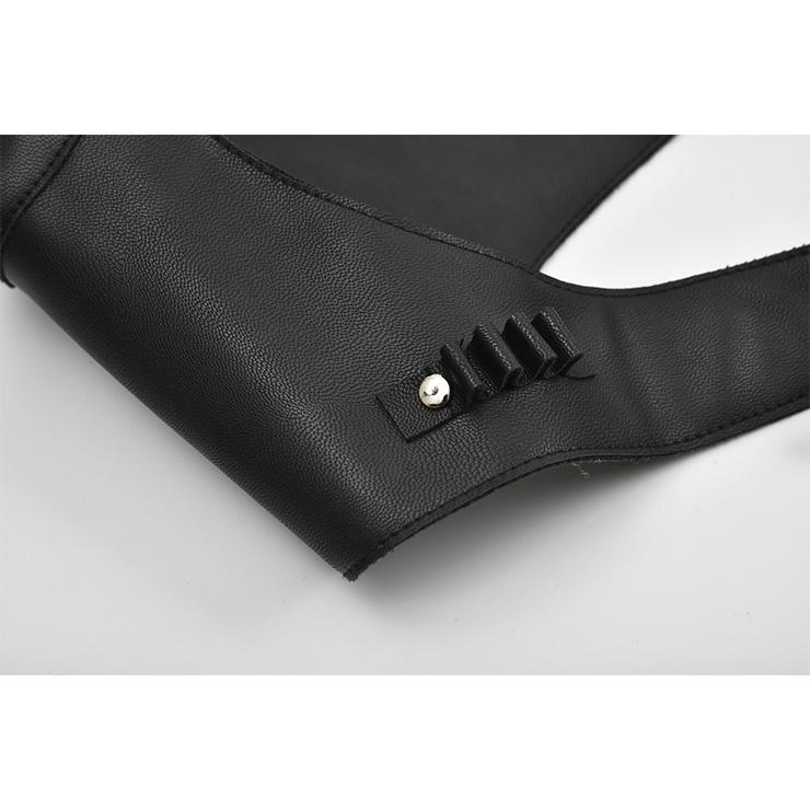 Sexy Black Gothic Corset Belt, Steampunk Corset Belt Harness For Matching Skirt Dress, Steampunk PU Leather Corset Belt Harness for Women, Sexy Clubwear Top, Cheap Punk Eyelets Corset Belt Harness, Steampunk Rivets Corset Harness, #N18791