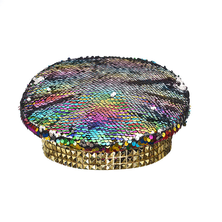Burning Man Festival Hat, Fancy Masquerade Party Costume Hat, Steampunk Halloween Cosplay Costume Hat, Sequins Nightclub Fancy Ball Top Hat, Police Top Hat Cosplay Costume, Fashion Party Costume Hat Accessory, Gothic Style Costume Hat, #J21536