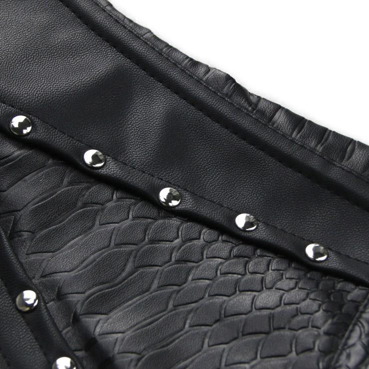 Sexy Snake Skin Corset, Punk Waist Cincher, Punk Rivet Corset, Sexy Underbust Corset, Cheap Steal Boned Corset, Hot Sale Clasp Closure Underbust Corset, #N19018