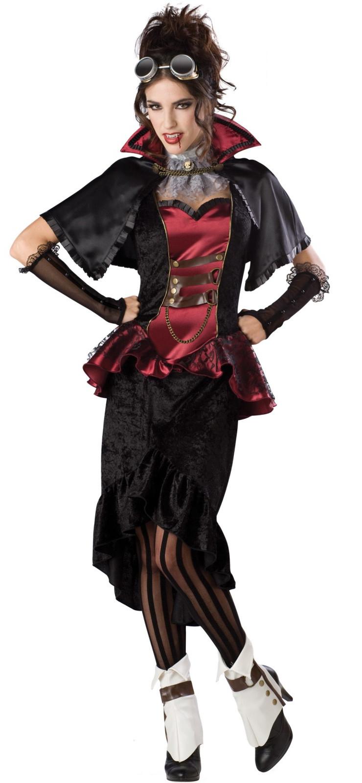 elite quality steampunk vampiress costume n6722. Black Bedroom Furniture Sets. Home Design Ideas