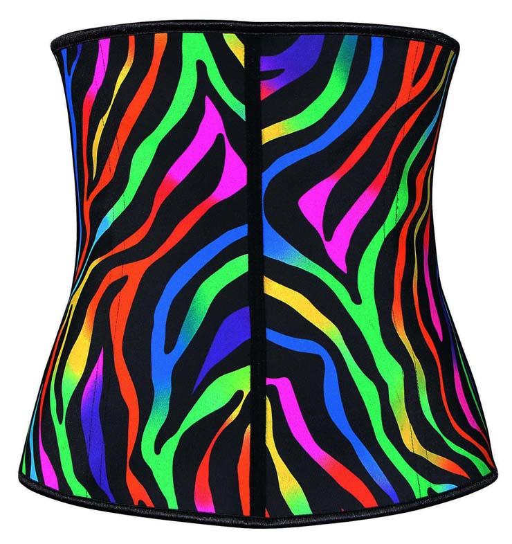 Colorful Steel Bone Underbust Corset, Latex Corset, Gorgeous Bizarre Patterns Underbust Corset, Cheap Women