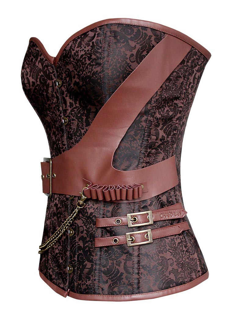 Plus Size Corset, Halloween Corset, Steel Boned Corset, Vintage Retro Corset, Fashion Corset for Womens, Steampunk Corset, Strapless Corset, #N10996