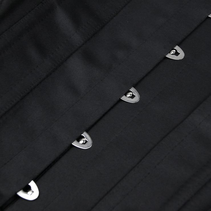 Fashion Black Underbust Corset, Steel Bones Underbust Corset, Waist Training Underbust Corset, Waist Trainer Cincher Belt, Slimmer Body Shaper Belt, Underbust Body Shaper, #N20170