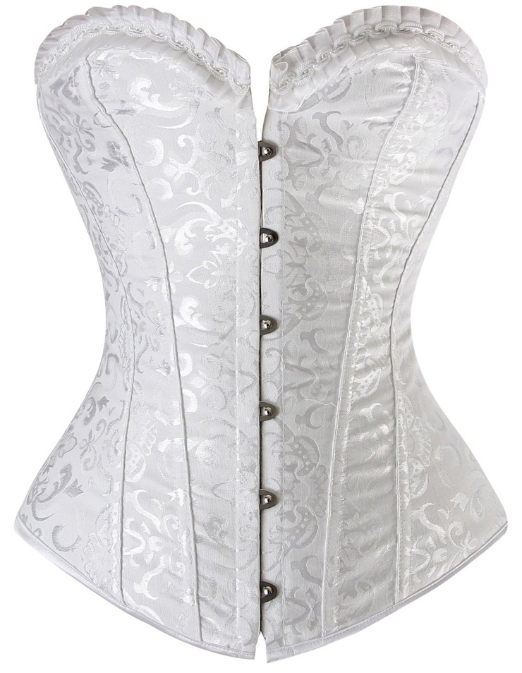 Steel Boning Corset, Vintage Floral Embroidered Corset, sexy Corsets, #M3226