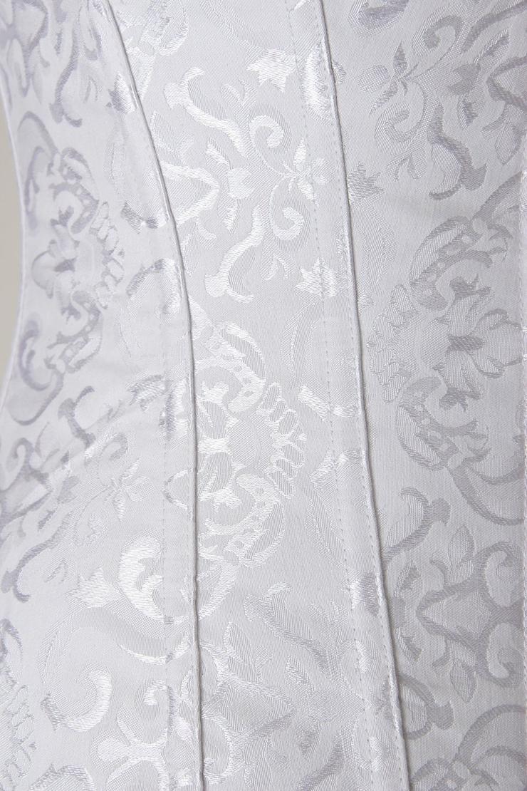 Steel Boning Zipper Corset, Vintage Floral Embroidered Corset, Floral Embroidered Steel Boning Corset, #M5078